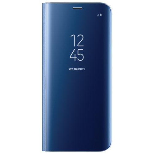 Étui rigide ajusté vertical Clear View de Samsung pour Galaxy S8 - Bleu