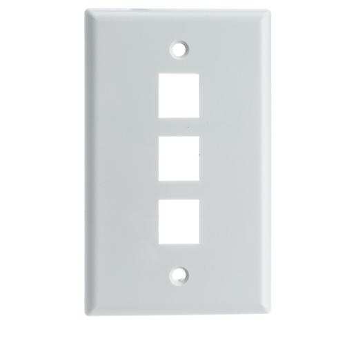 Digiwave Keystone Wall Plate - 3 Slots
