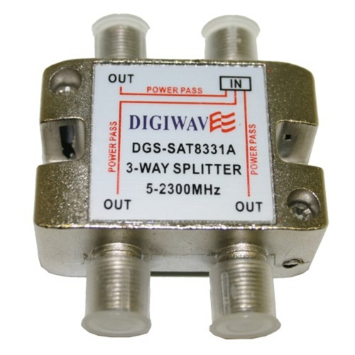 Digiwave 3 Way Splitter for 5 to 2300Mhz