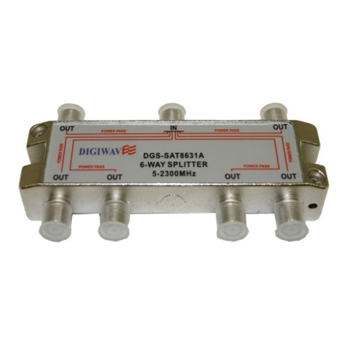 Digiwave 6 Way Splitter for 5 to 2300Mhz
