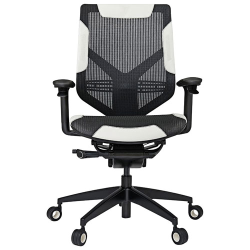 Vertagear Triigger Line 275 Ergonomic Calfskin Leather Racing Gaming Chair - Black/White