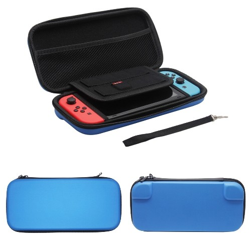 Nintendo Switch Case Hard Shell Travel Carrying Protective Storage Bag for Nintendo Switch-Blue