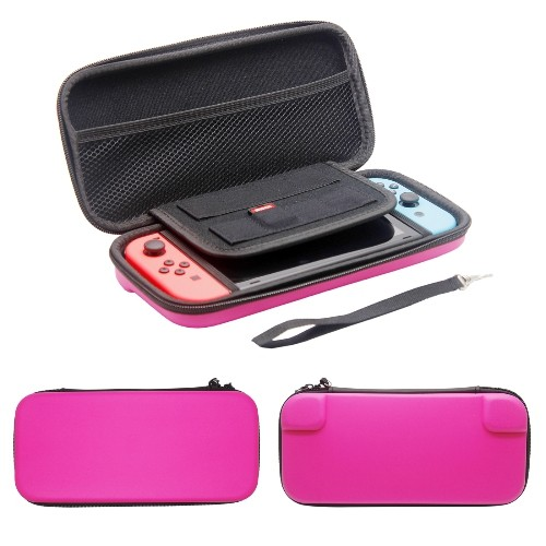 Nintendo Switch Case Hard Shell Travel Carrying Protective Storage Bag for Nintendo Switch-Hot Pink