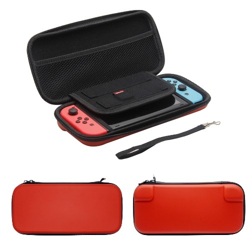 Nintendo Switch Case Hard Shell Travel Carrying Protective Storage Bag for Nintendo Switch-Red