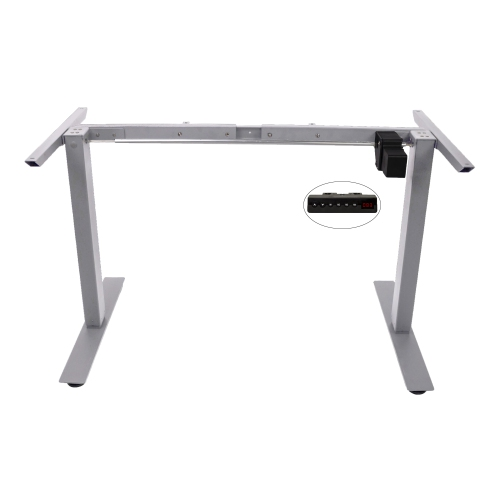 Single Motor Programmable Standing Desk Frame Only Grey Desks