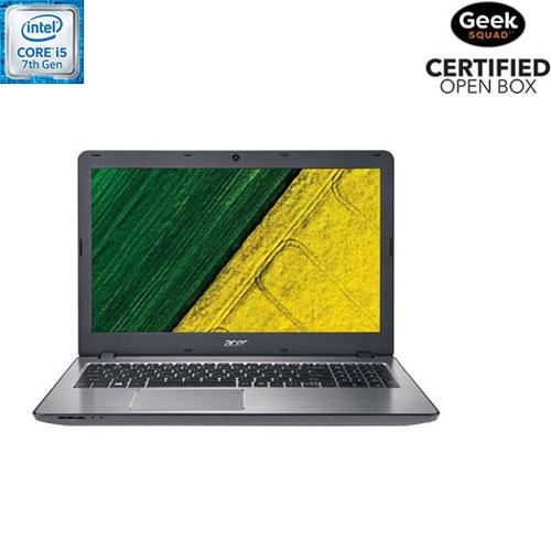 Portable tactile 15 po Aspire F d'Acer - Arg (Core i5-7200U d'Intel/DD 1 To/RAM 12 Go/Win 10) - BO