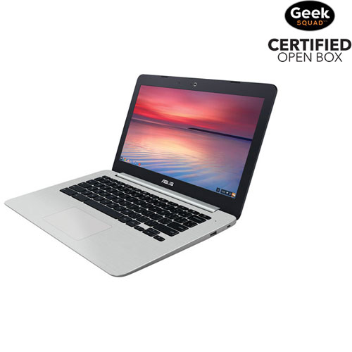 "ASUS C301 13.3"" Chromebook - (Intel Quad-Core Celeron N3160/16GB SSD/4GB RAM/Chrome OS) - Open Box"