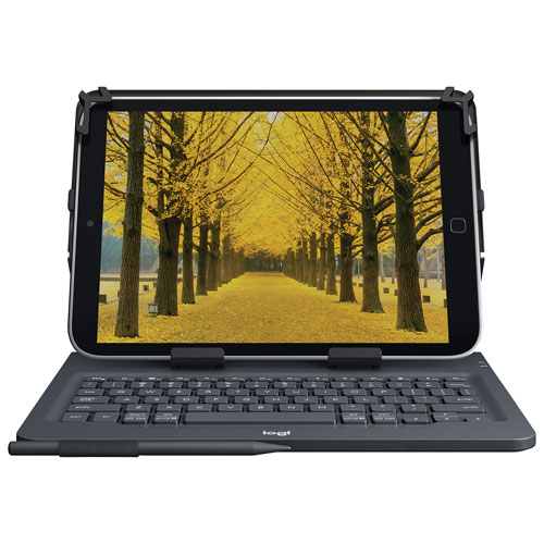 "Logitech 10"" Universal Tablet Keyboard Folio Case - Black - English"