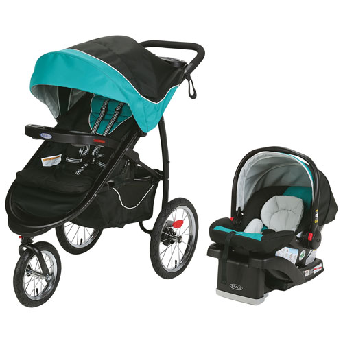 Graco Jogging Stroller With SnugRide Click Connect Car Seat