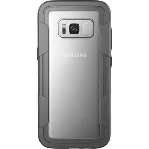 Étui rigide Voyager de Pelican pour Galaxy S8 - Transparent-gris