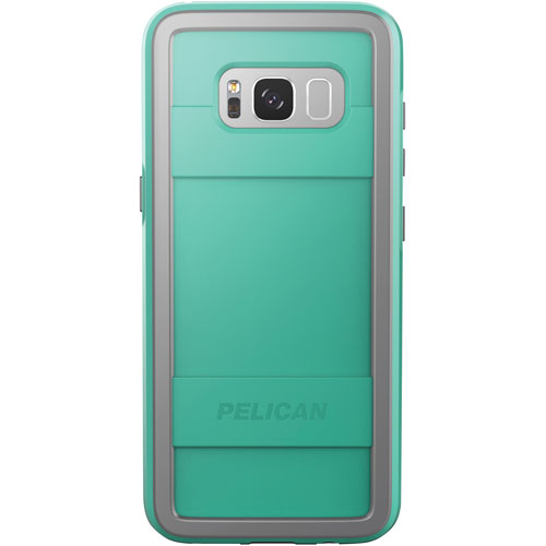 Pelican Protector Fitted Hard Shell Case for Galaxy S8 - Aqua/Grey