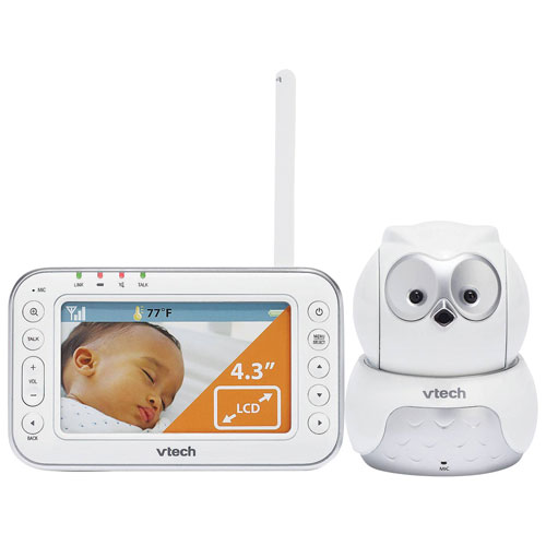 vtech safe sound 4 3 owl video monitor with zoom pan tilt vm344 baby monitors best buy canada. Black Bedroom Furniture Sets. Home Design Ideas
