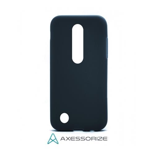 COMBO Axessorize LG K4 2017 Case Bleu Cobalt + Écan Protecteur
