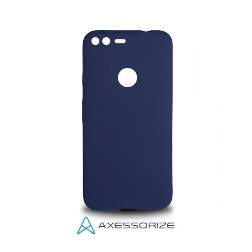 COMBO Axessorize Google Pixel Case Cobalt Blue + Tempered Glass