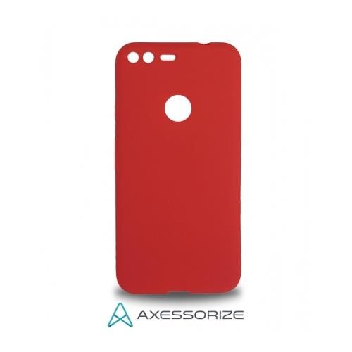 COMBO Axessorize Google Pixel Case Candy Red + Tempered Glass