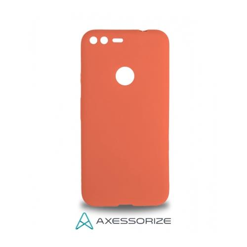 COMBO Axessorize Google Pixel XL Case Salmon Pink + Tempered Glass