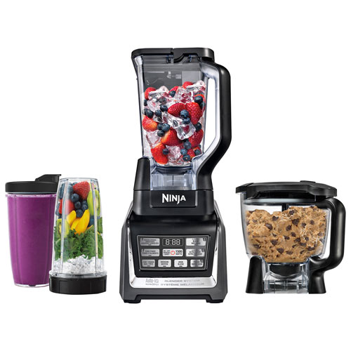 ninja nutri ninja auto iq kitchen system with 1500 watt stand blender food processor bowl - Ninja Kitchen System