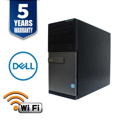 DELL OPTIPLEX 3010 DT I5 3470 3.2 GHZ 16.0 GB 500GB DVD/RW WIN 10 PRO 5YR WTY USB WIFI - Refurbished