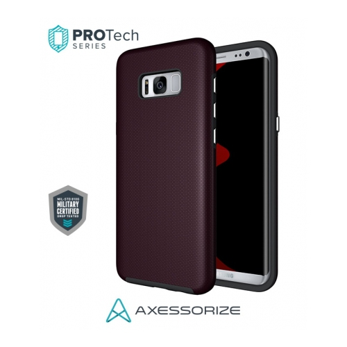 Axessorize PROTech Case Samsung Galaxy S8 Burgundy Red