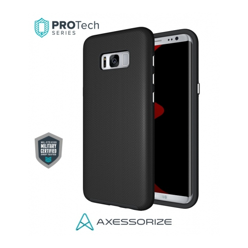 Axessorize Fitted Hard Shell Case for Samsung Galaxy S8 Plus - Black