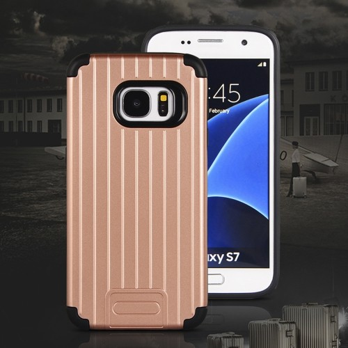NAVOR Kario Groove Dual Layer Hybrid Protective Case for Samsung Galaxy S7 - Rose Gold
