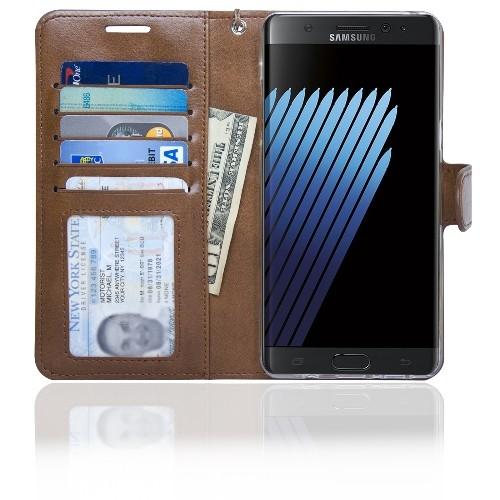 Navor Wallet Case for Samsung Galaxy Note - Brown