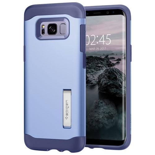 Étui rigide ajusté Slim Armor de Spigen pour Galaxy S8 Plus de Samsung - Violet