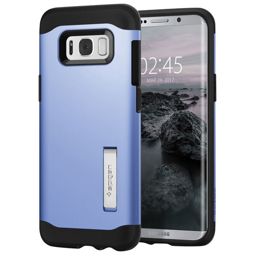 Spigen Slim Armor Fitted Hard Shell Case for Samsung Galaxy S8 Plus - Blue Coral