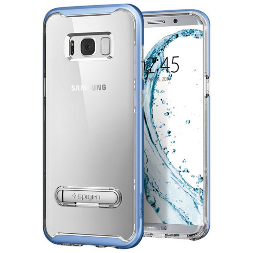 Spigen Crystal Hybrid Fitted Hard Shell Case for Samsung Galaxy S8 - Blue Coral
