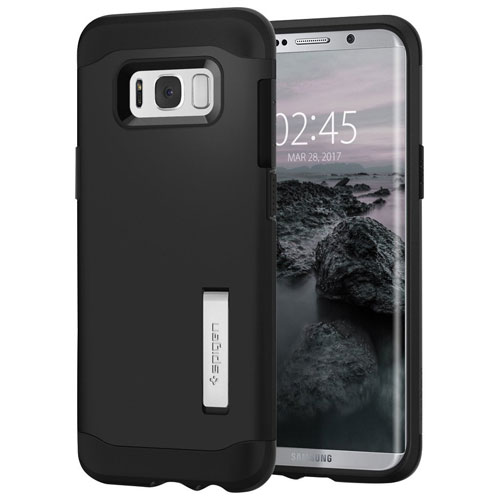 new arrivals b239f 9c593 Spigen Slim Armor Fitted Hard Shell Case for Samsung Galaxy S8 Plus - Black