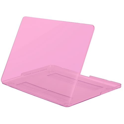 "Exian MacBook Pro 13.3"" Silicone Frosted Keyboard cover and Hard Plastic Case Transparent Pink"