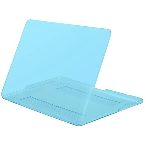 "Exian MacBook Pro 15.4"" Silicone Frosted Keyboard cover and Hard Plastic Case Transparent Blue"