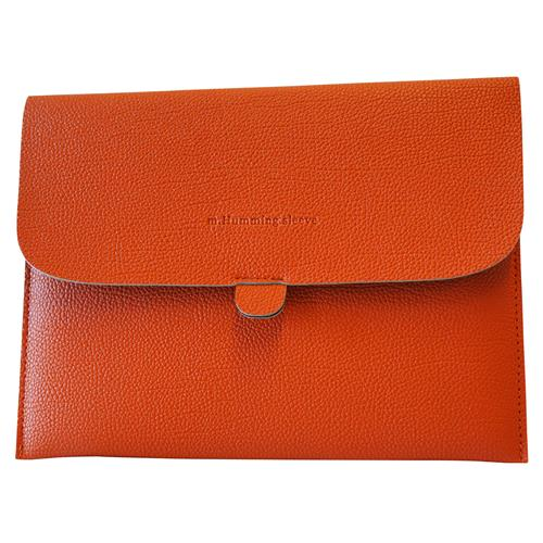 "Exian Univrsal Tablet PU Soft Leather Sleeve 25cm(10"") x 19cm(7.5"") Orange"