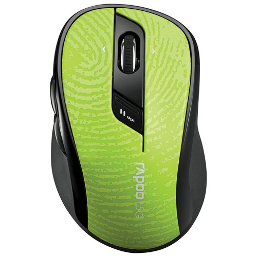 Souris optique sans fil 7100P 5G de Rapoo - Vert