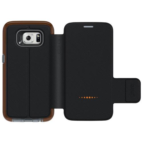 Étui rigide ajusté Oxford de Gear4 pour Galaxy S7 Edge - Noir