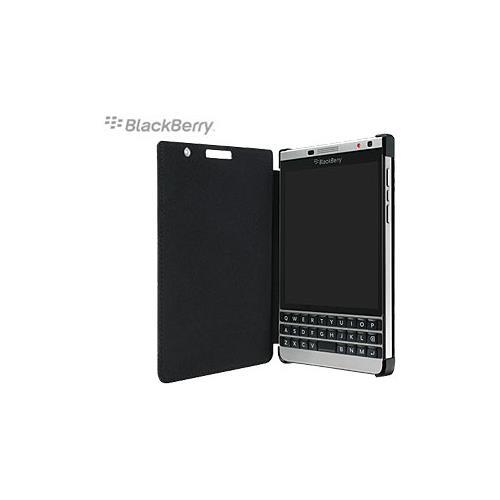 BlackBerry Passport Silver Edition Leather Flip Case (Black)