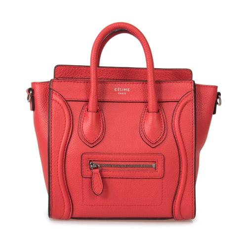6327b4c1757b Celine Nano Luggage Red Baby Grained Calfskin Leather Nano Luggage Shoulder  Bag   Satchel Bags - Best Buy Canada