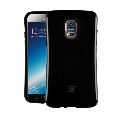 Dual Layer Hybrid Military Graded Shock Express Case with Raised Lip - Samsung Galaxy S5 - Black