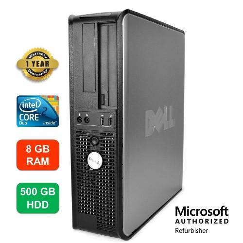 Dell Optiplex 745 Desktop, Intel Core2Duo, 8GB RAM, 500GB HDD, DVD-RW, Windows 10 - Refurbished