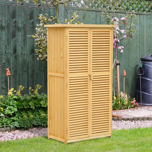 Outsunny 34x18X63in Patio Storage Shed Garden Wood Cabinet Yard Storage Box  with Two Doors : Other Patio, Lawn & Garden - Best Buy Canada - Outsunny 34x18X63in Patio Storage Shed Garden Wood Cabinet Yard