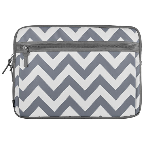 "Modal Chevron 16"" Laptop Sleeve - White/Grey - Only at Best Buy"