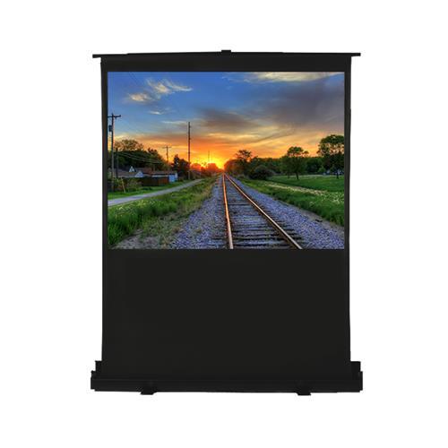 "EluneVision Pneumatic Air Lift Pull-up Floor Screen - 80"" 16:9"