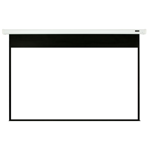 "Elunevison White Home Theater Motorized Projector Screen - 106"" 16:9"