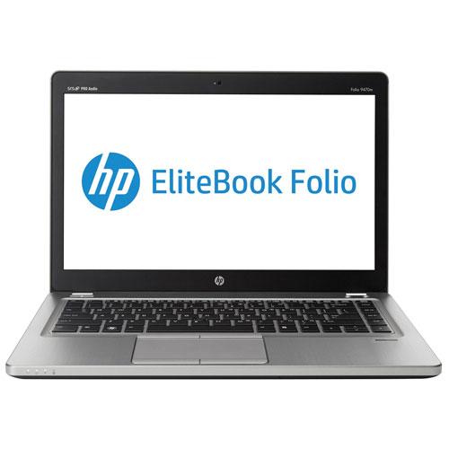 EliteBook 9470M 14 po HP-Platine (Core i5-3427U d'Intel/SSD 128 Go/RAM 4 Go/Win 10)-Ang-Remis à neuf