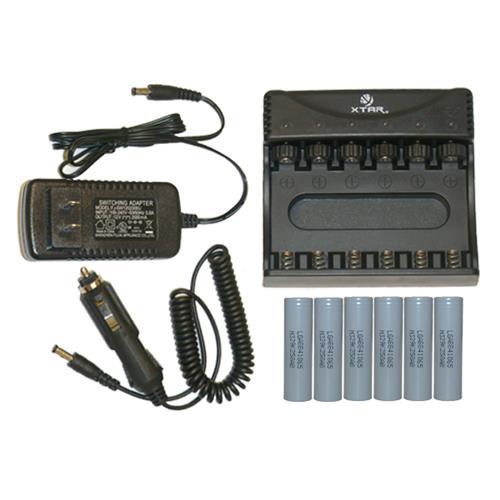 6 Bay Lithium Ion Smart Charger 6 Pack 18650 37v Li Ion Lg