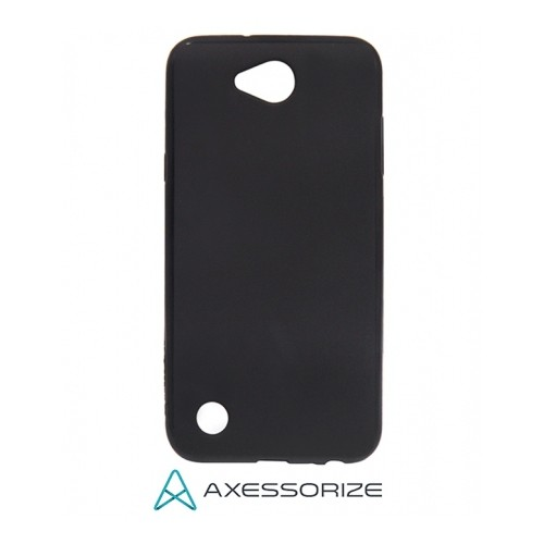 Axessorize COMBO Silicone Case LG X Power 2 Black + Tempered Glass