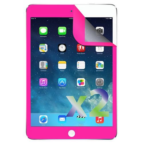 Exian iPad Air / Air 2 / Air 3 Screen Protectors X 2 with Pink Border