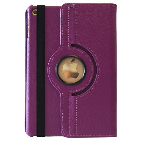 Exian iPad Mini 1 / 2 / 3 PU Leather Rotatable Flip Case with Stand Purple