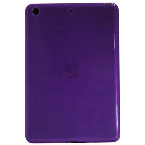 Exian iPad Mini 1 / 2 / 3 TPU Backcover Case Frosted Transparent Purple