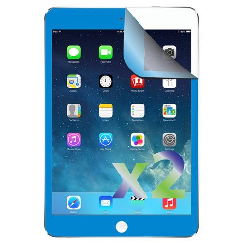 Exian iPad Mini 1 / 2 / 3 Screen Protectors X 2 with Blue Border